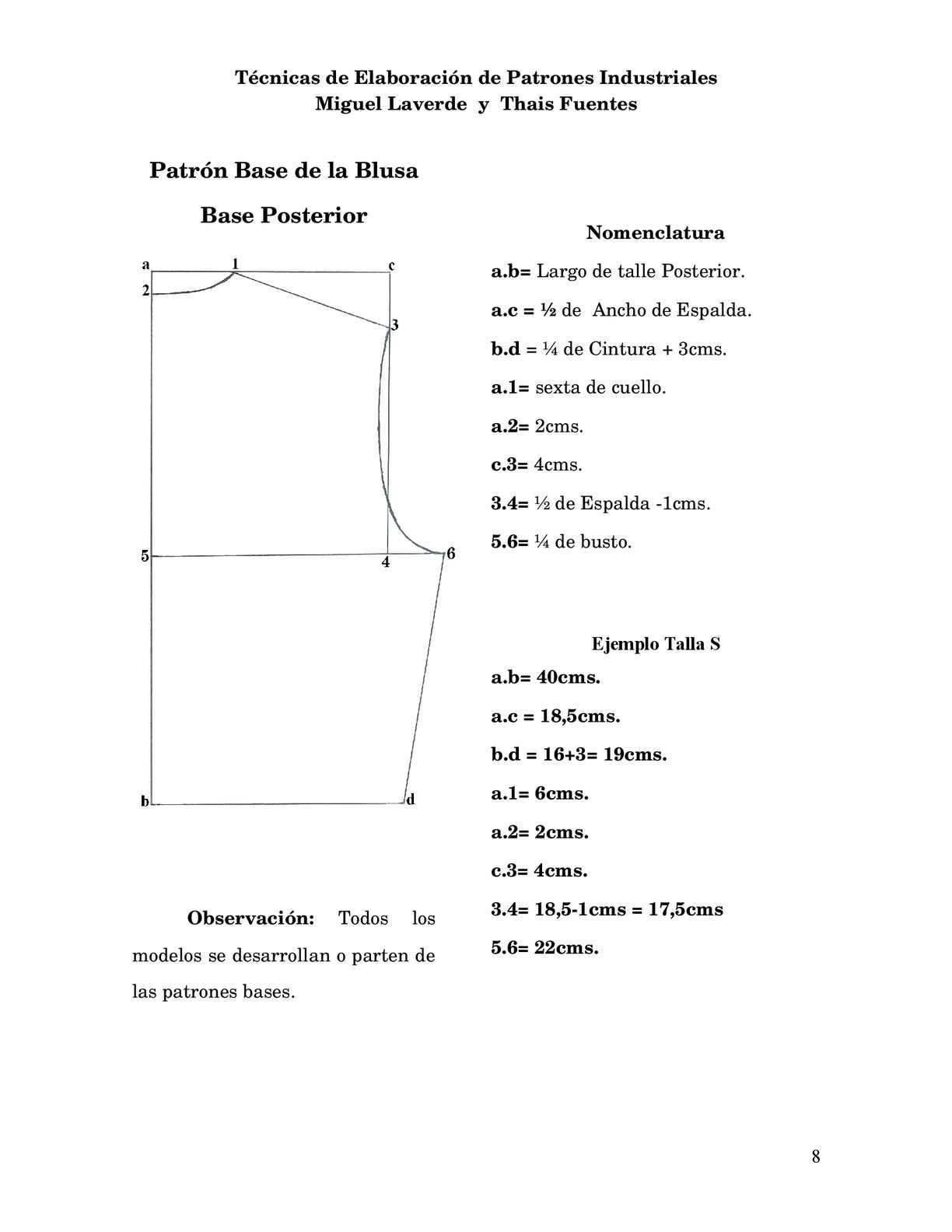 TECNICAS DE ELABORACION DE PATRONES INDUSTRIALES