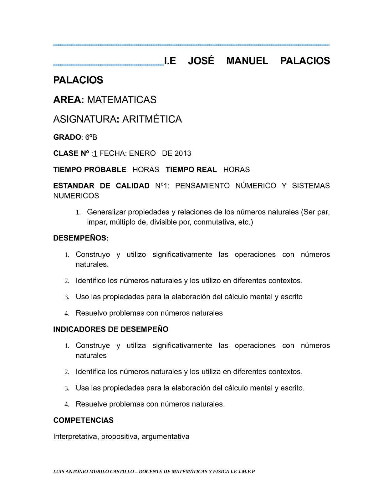PREPARADOR MATEMÁTICA GRADO SEXTO