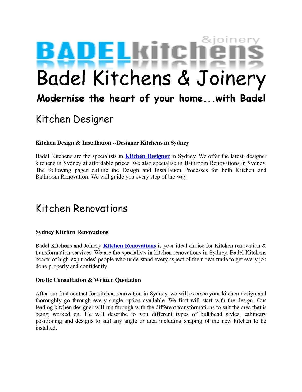 Calaméo - Morden Kitchens in Sydney