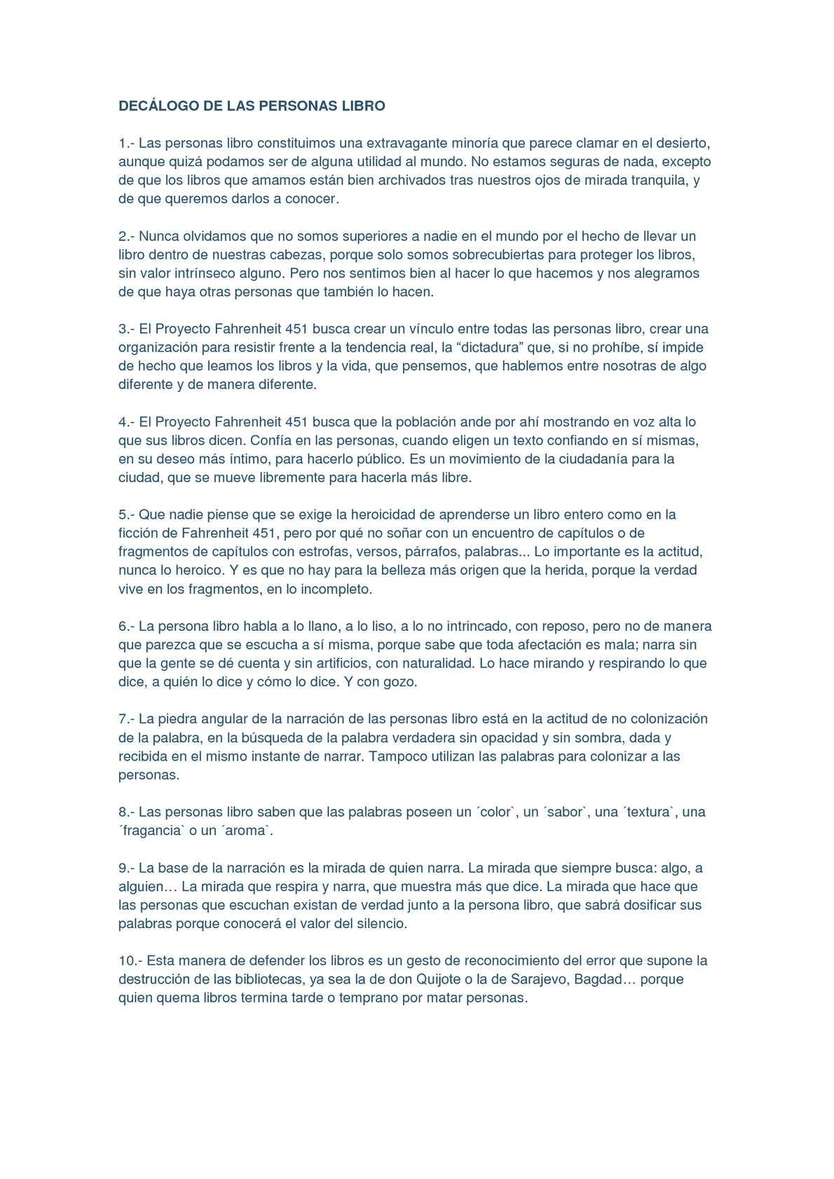 Calaméo - DECÁLOGO DELAS PERSONAS LIBRO