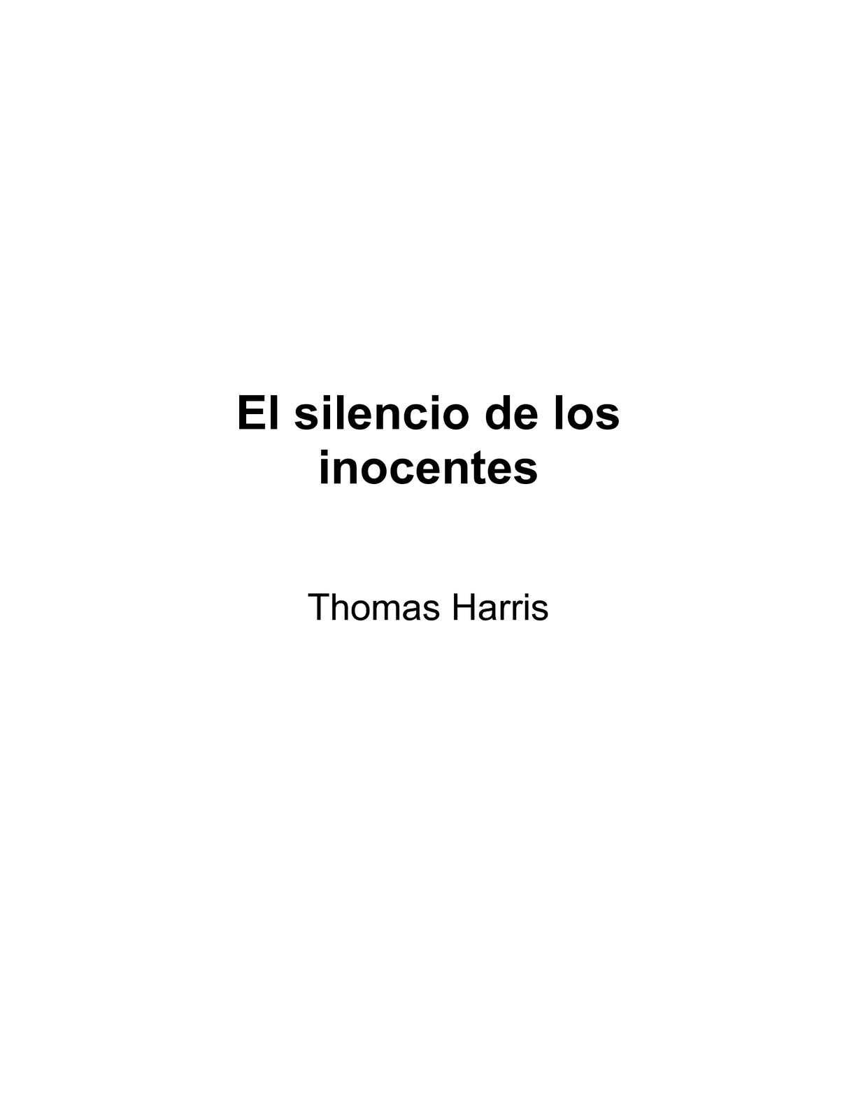 Calaméo - El silencio de los inocentes