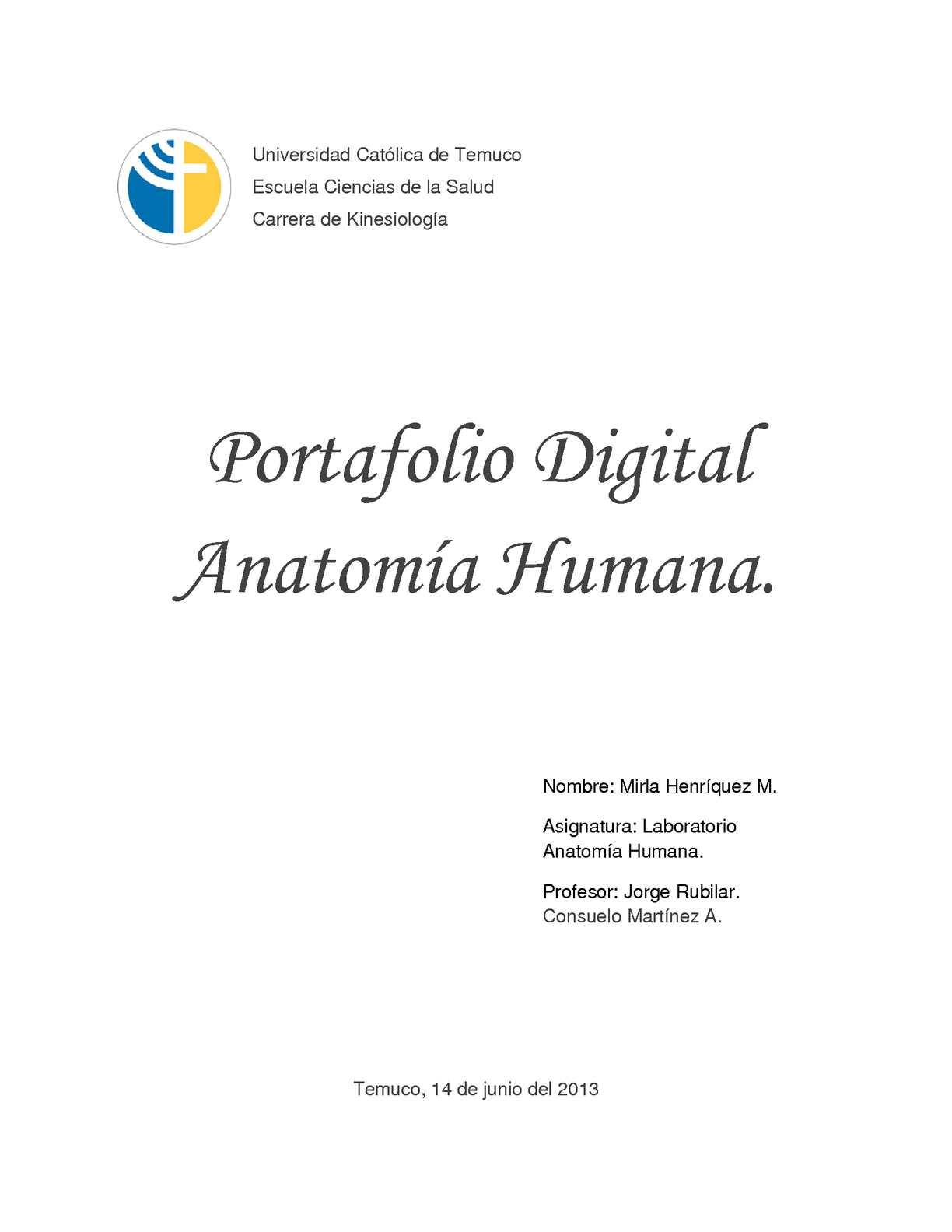 Calaméo - Portafolio Digital Anatomía Humana - Mirla Henriquez