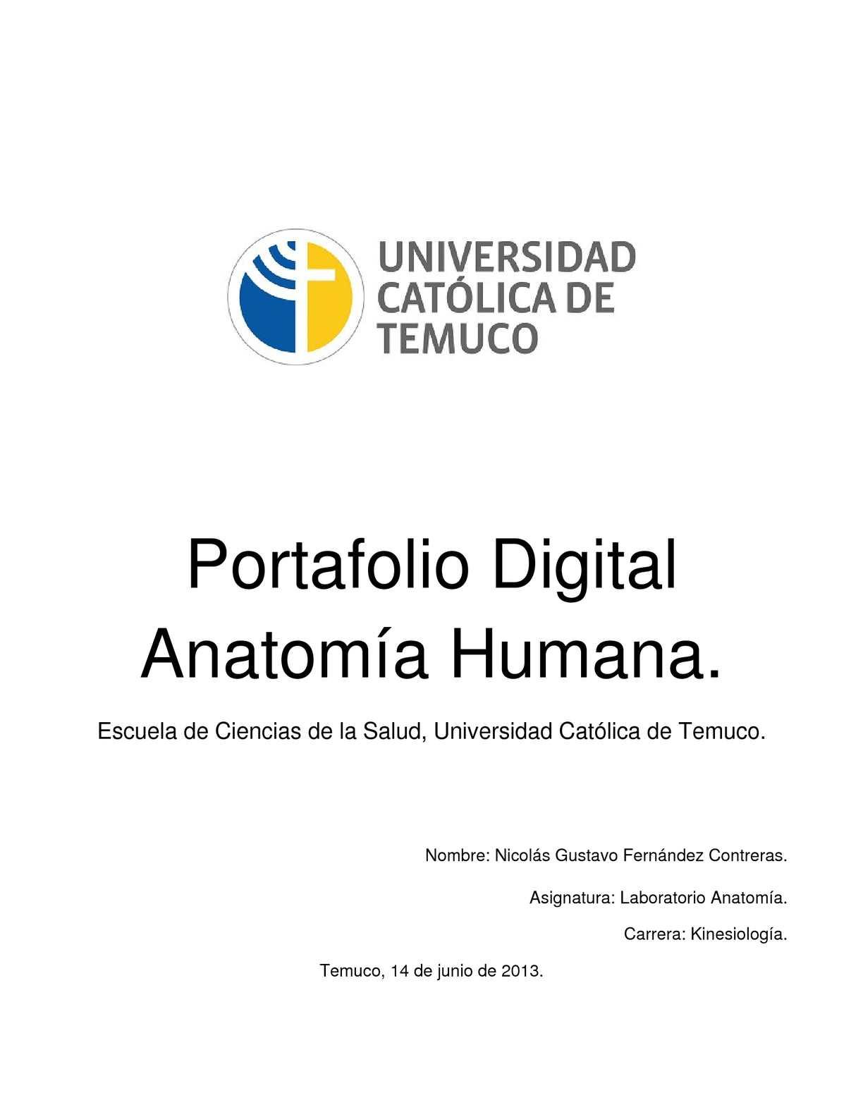 Calaméo - Portafolio Digital, Anatomía Humana.