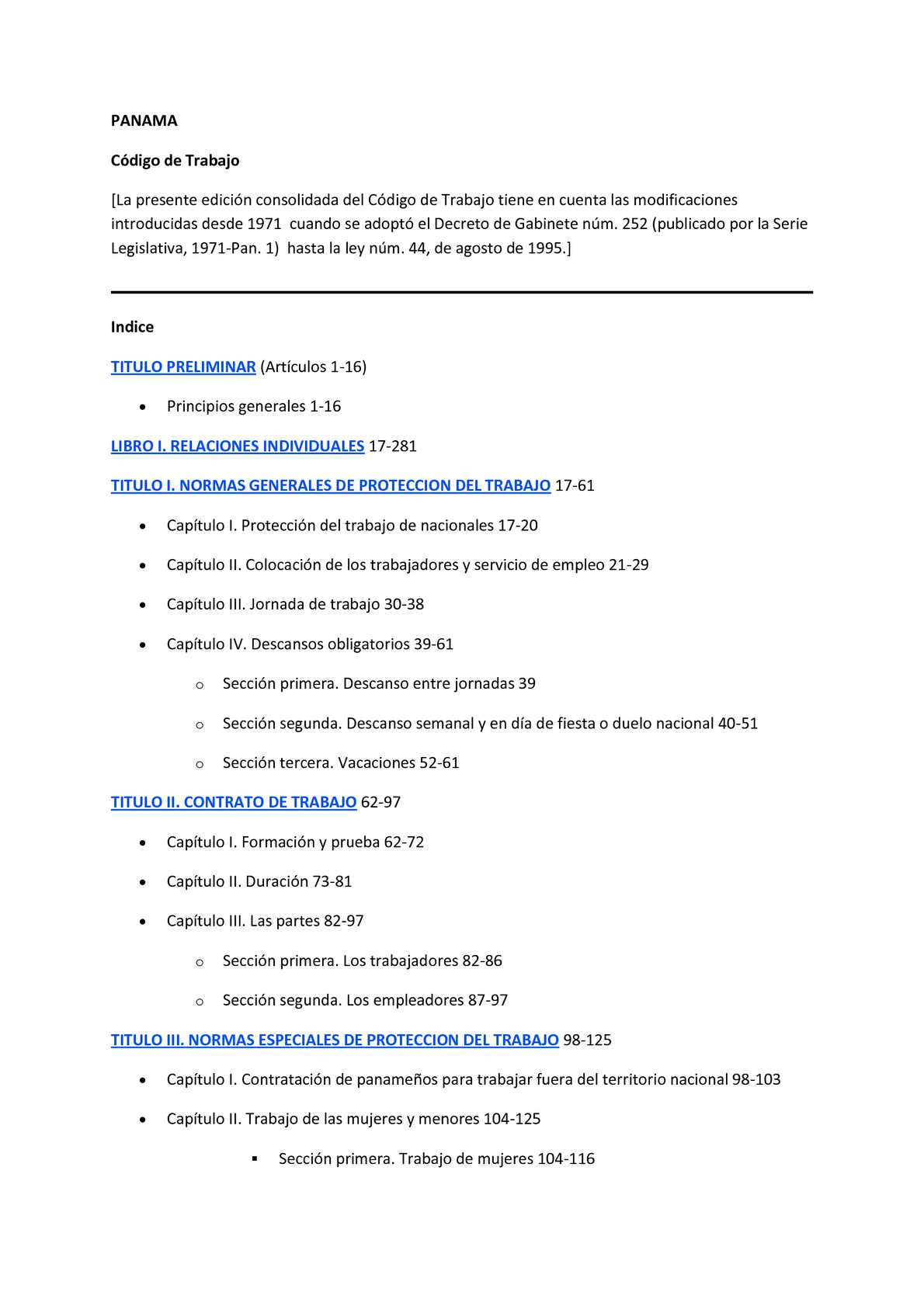 Calaméo - el código laboral panameño