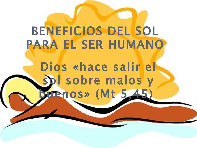 Calaméo - LOS BENEFICIOS DEL SOL PARA EL SER HUMANO