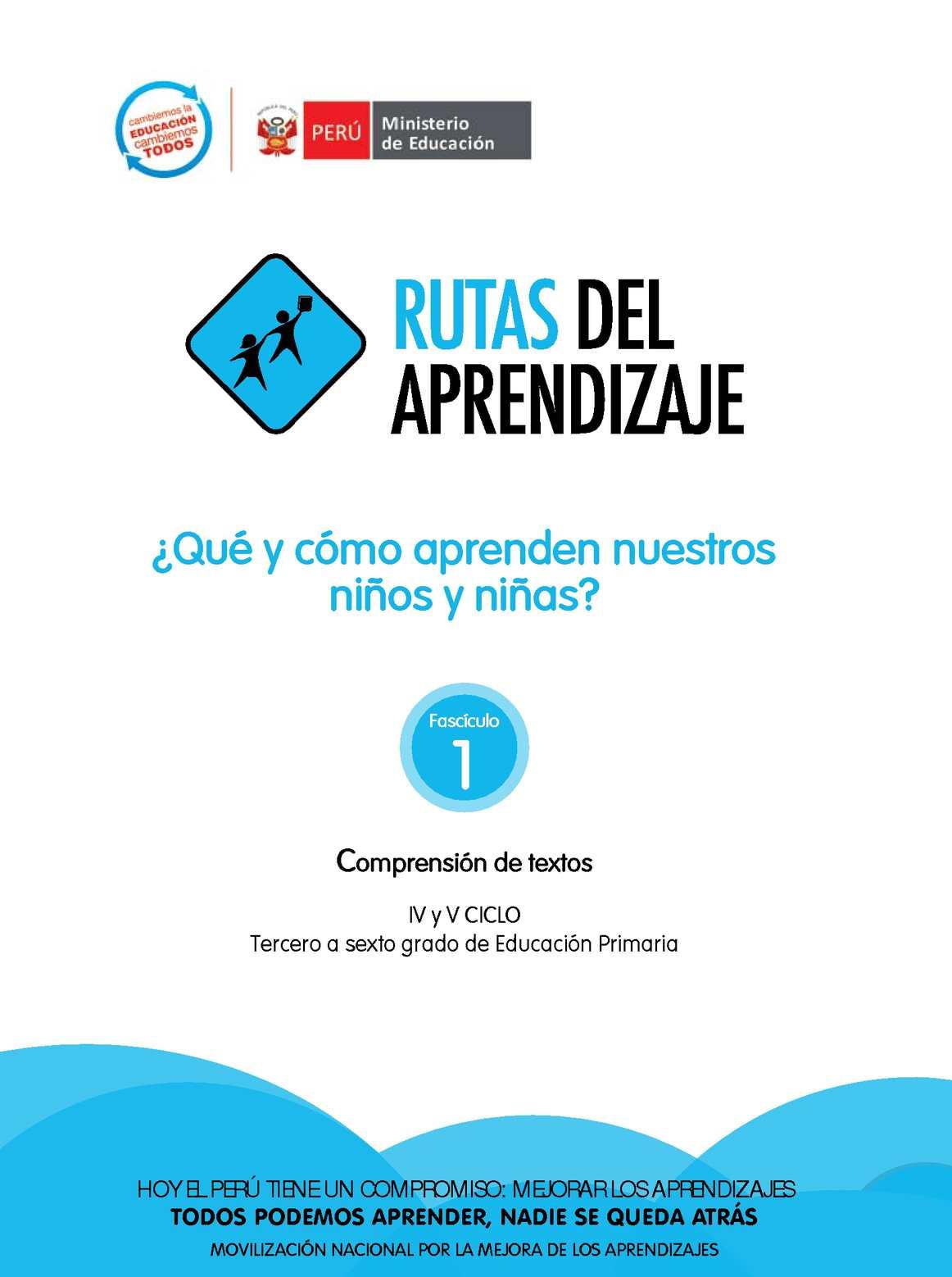 Calaméo - RUTAS DEL APRENDIZAJE - COMPRENSIÓN DE TEXTOS 3° al 6 ...