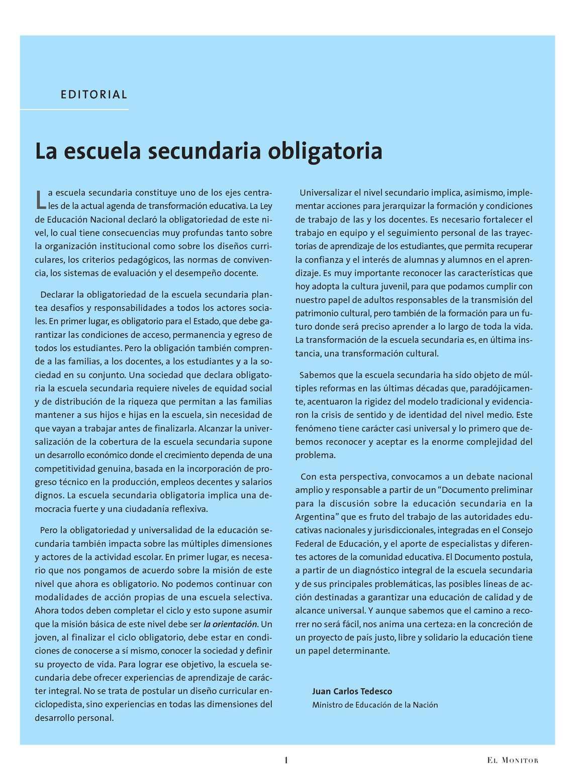 Calaméo - Revista El monitor de la educación Nº 19