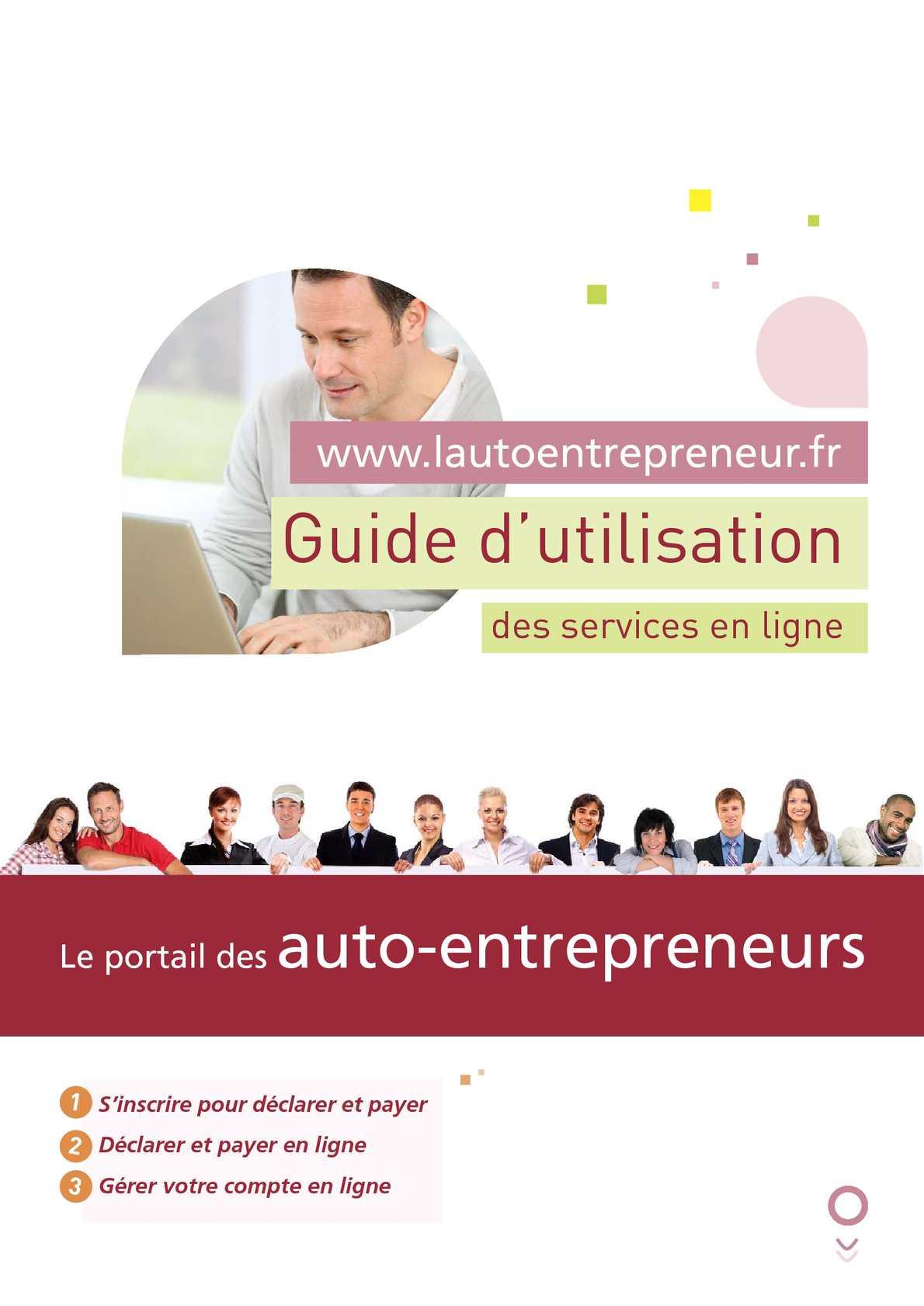 Calameo L Auto Entrepreneur Guide Ae En Ligne 2012