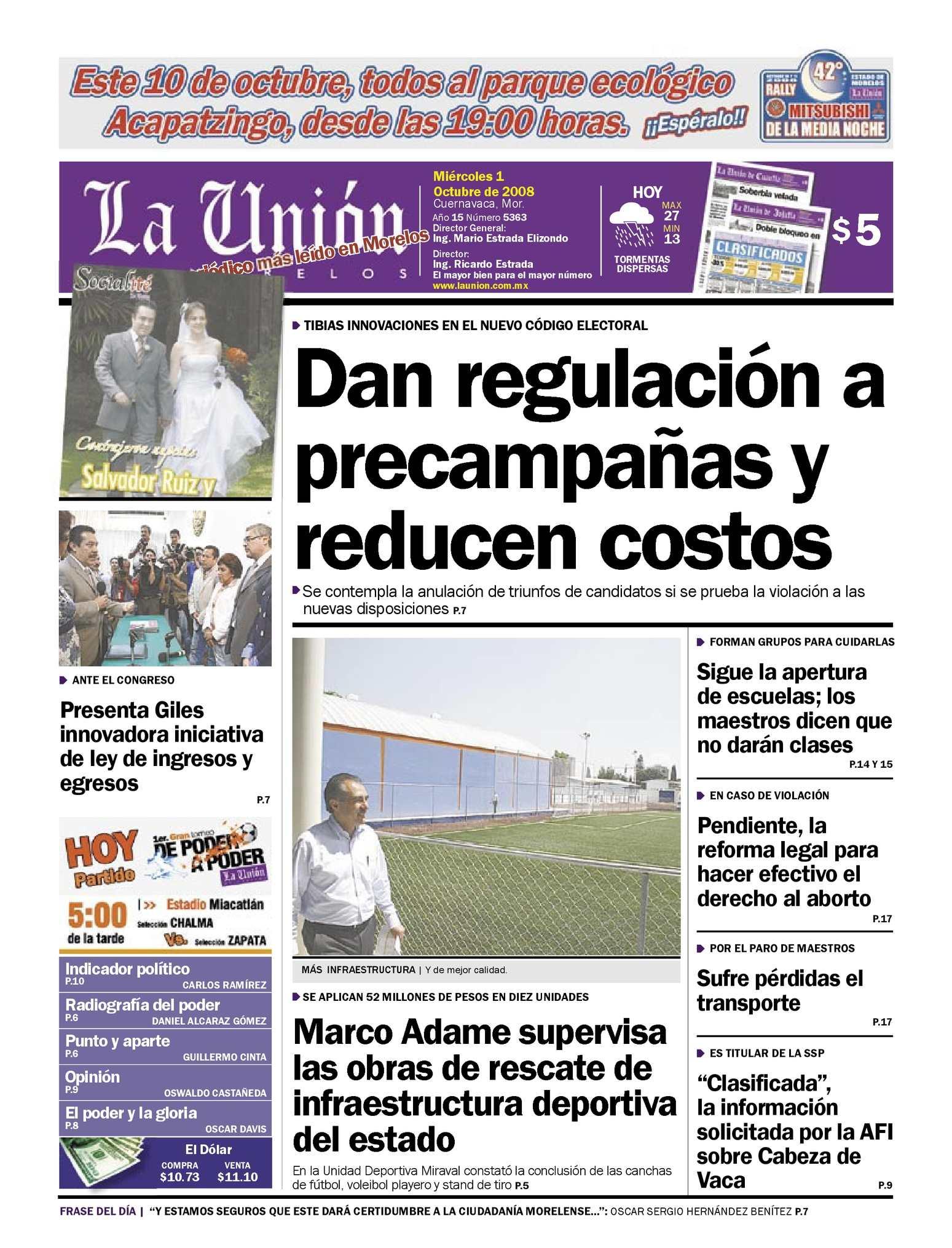 Calameo La Union De Morelos 01 Octubre 2008