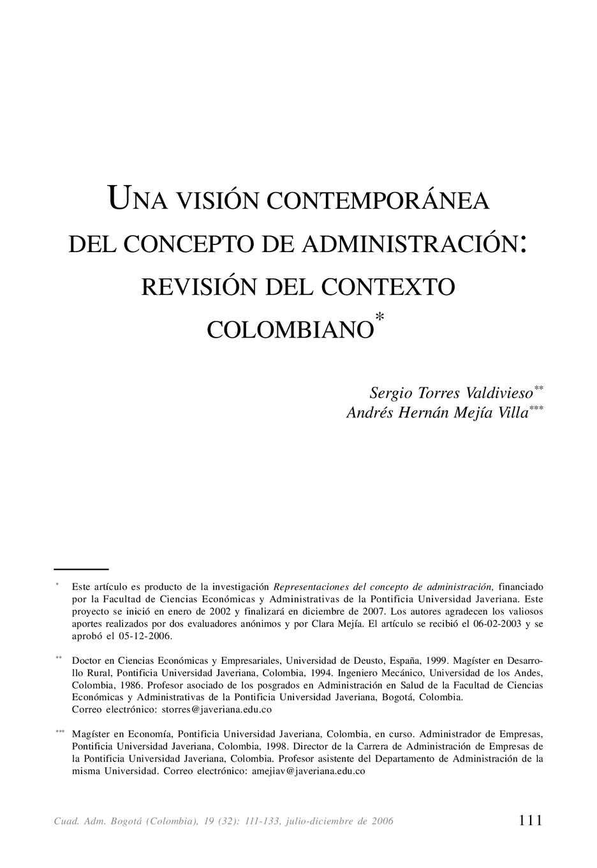 Calaméo - Visión Contemporanea de la Administración