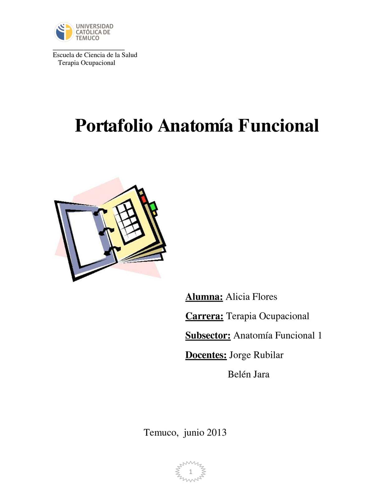 Calaméo - Portafolio Anatomía Funcional 1 T.O
