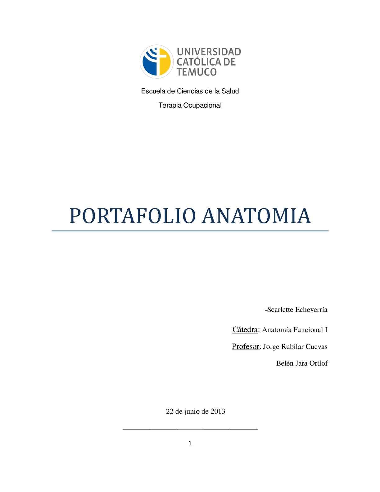 Calaméo - Portafolio Anatomia