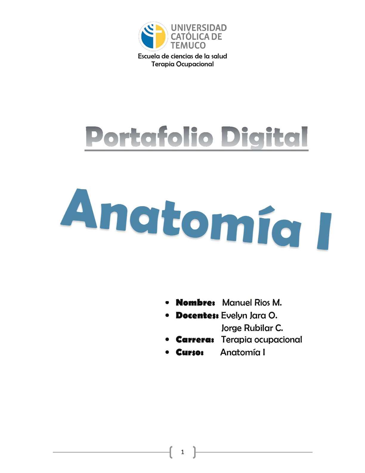 Calaméo - Portafolio Anatomía I