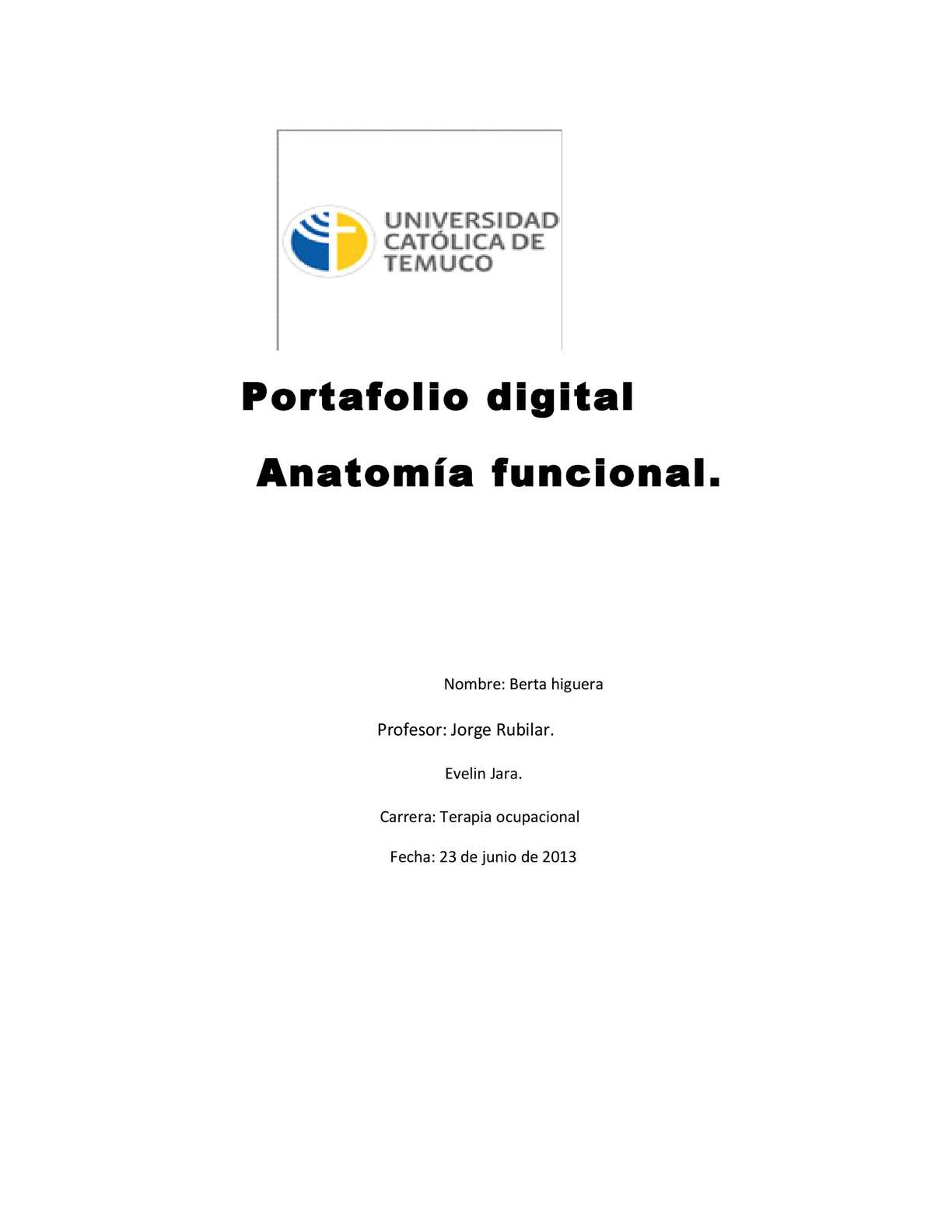 Calaméo - portafolio Anatomía Funcional.