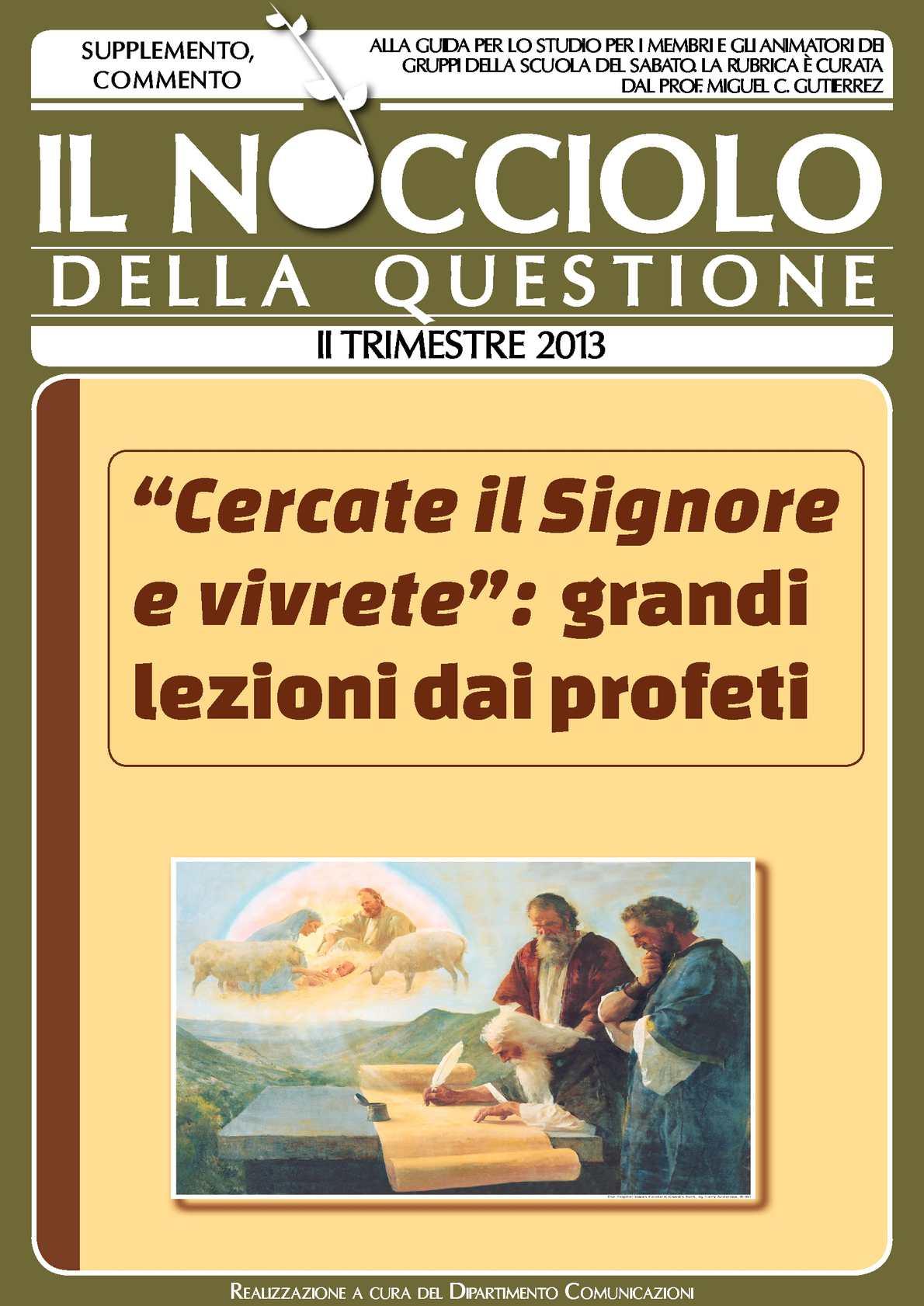 II Trim. 2013 (1-13) - Il Nocciolo della Questione