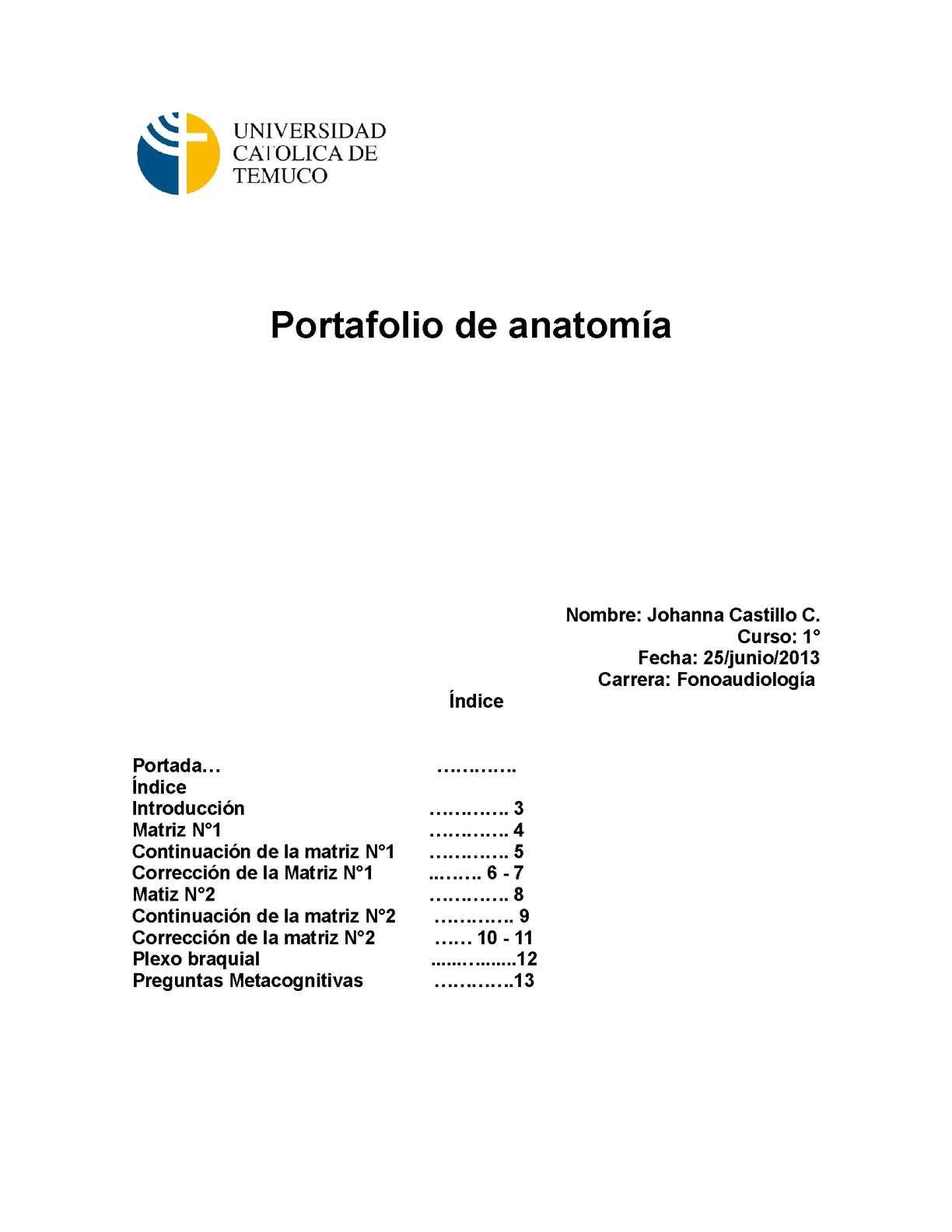 Calaméo - Portafolio de Anatomía