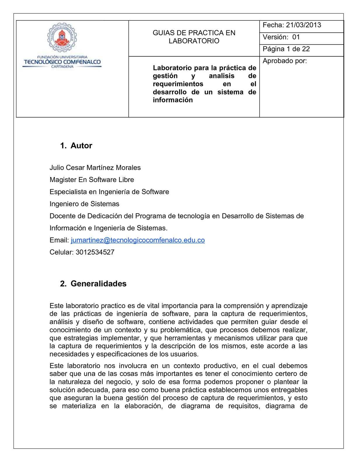 Calaméo - Guia de laboratorio de Analisis y Diseño de Software