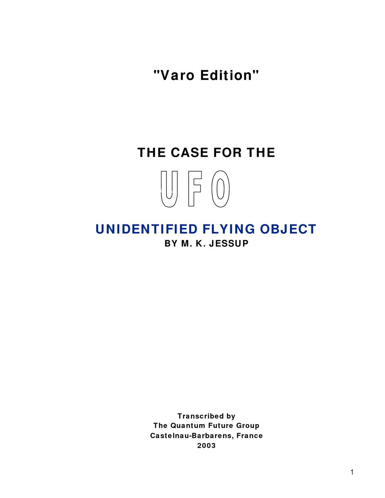 ba19a48cf9 Calaméo - The case for the UFO (M. K. Jessup)