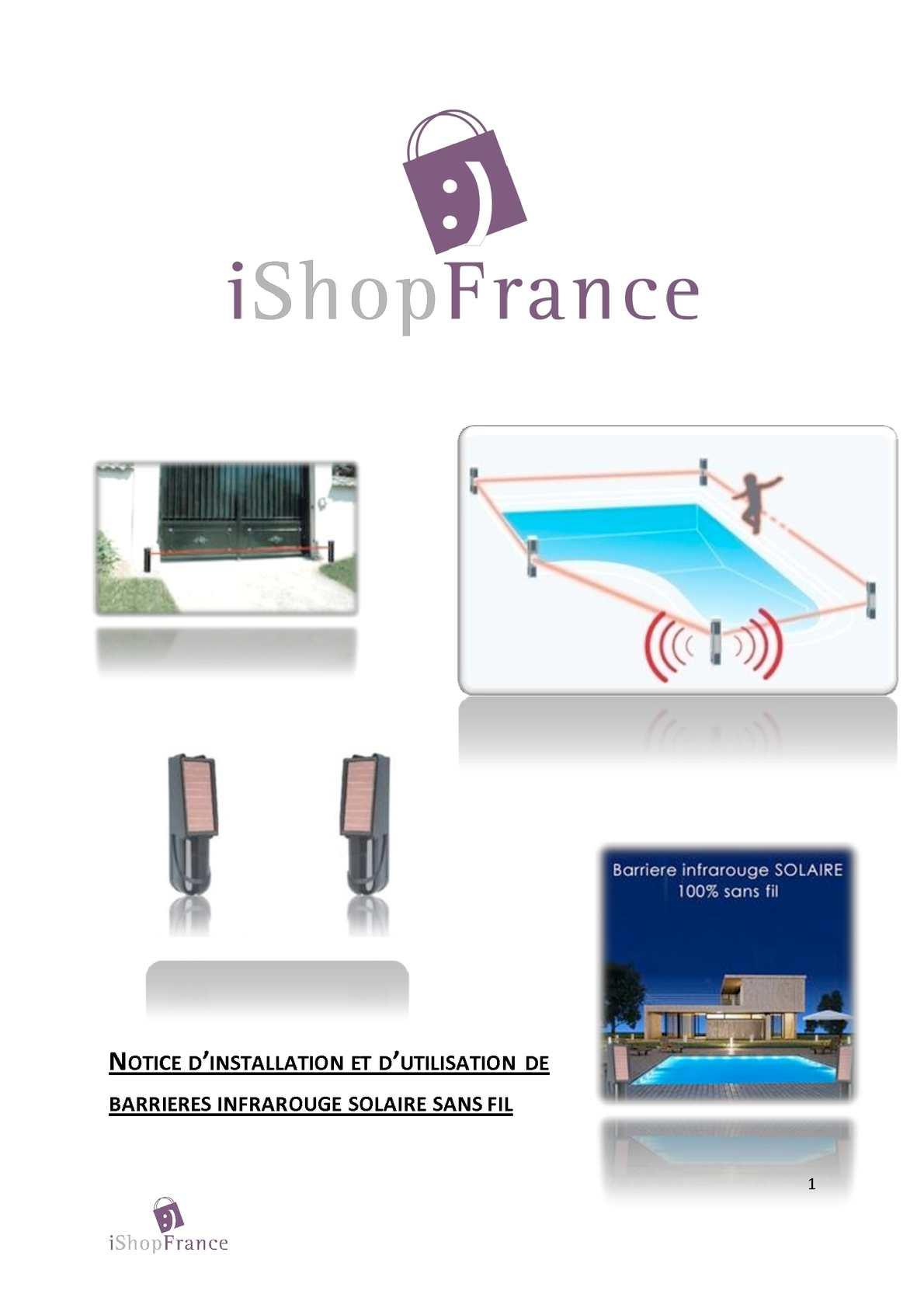 calam o notice technique barri re sans fil solaire focus solarway. Black Bedroom Furniture Sets. Home Design Ideas