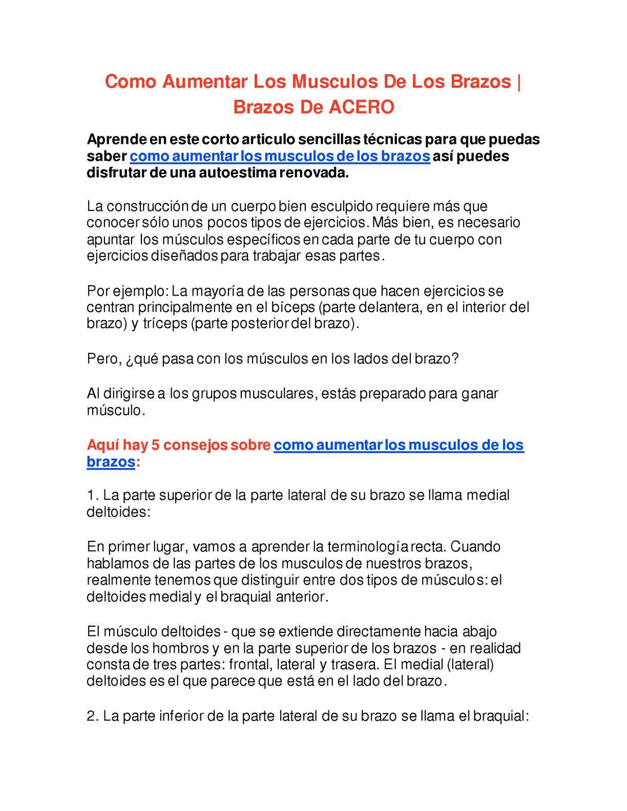 Calaméo - Como Aumentar Los Musculos De Los Brazos - Brazos De ACERO