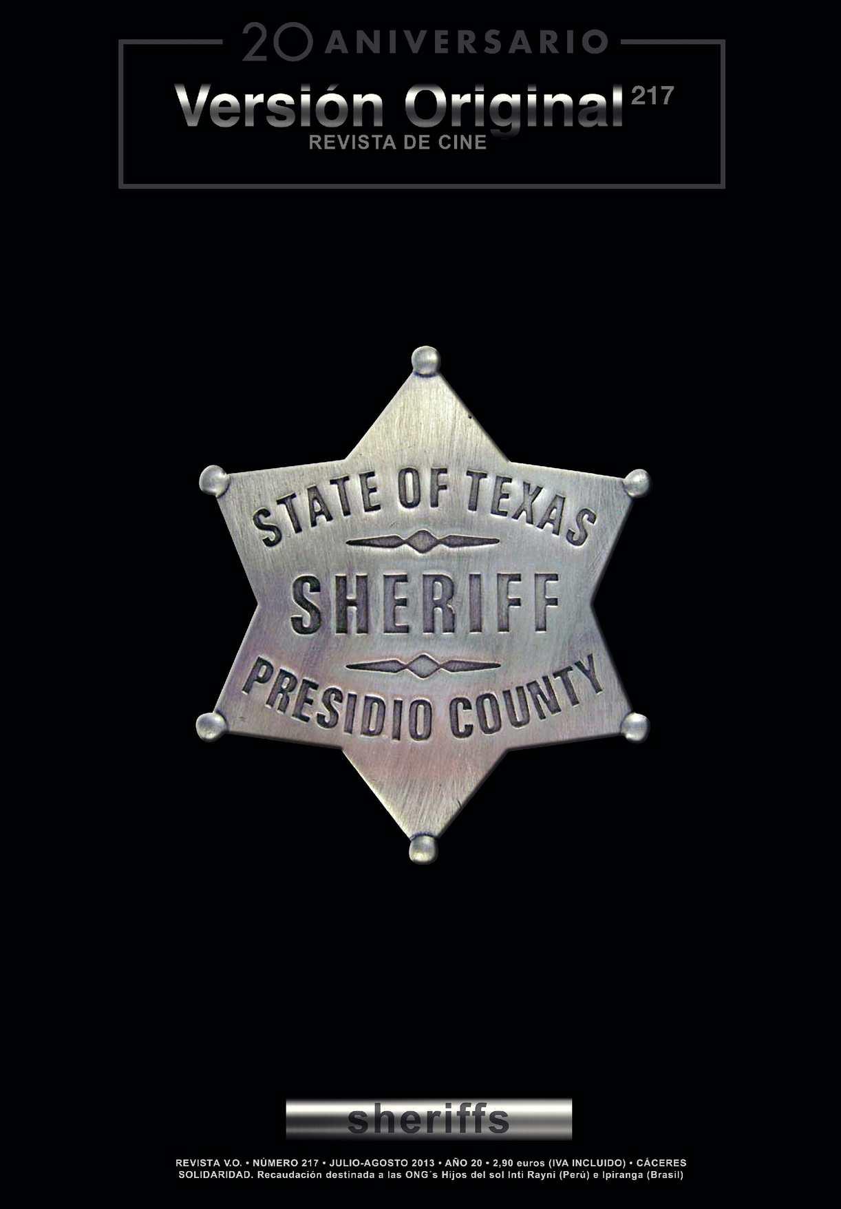 Revista de Cine Versión Original 217. Sheriffs
