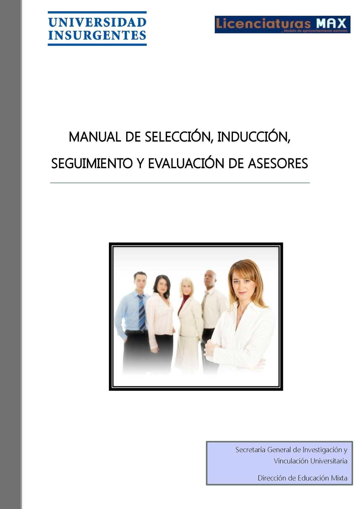 Calaméo - Manual de Selección, Inducción, Seguimiento y Evaluación ...