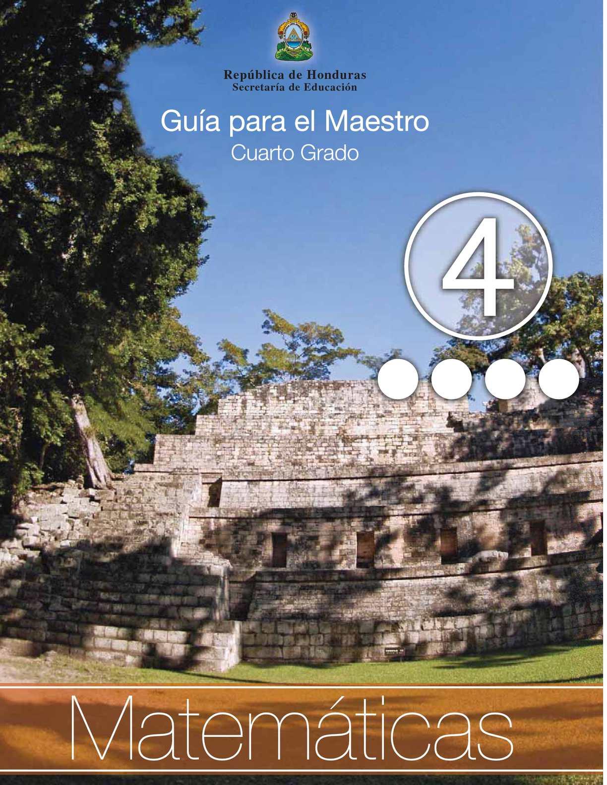 Calaméo - 4to Grado Guia del Maestro - Matematicas