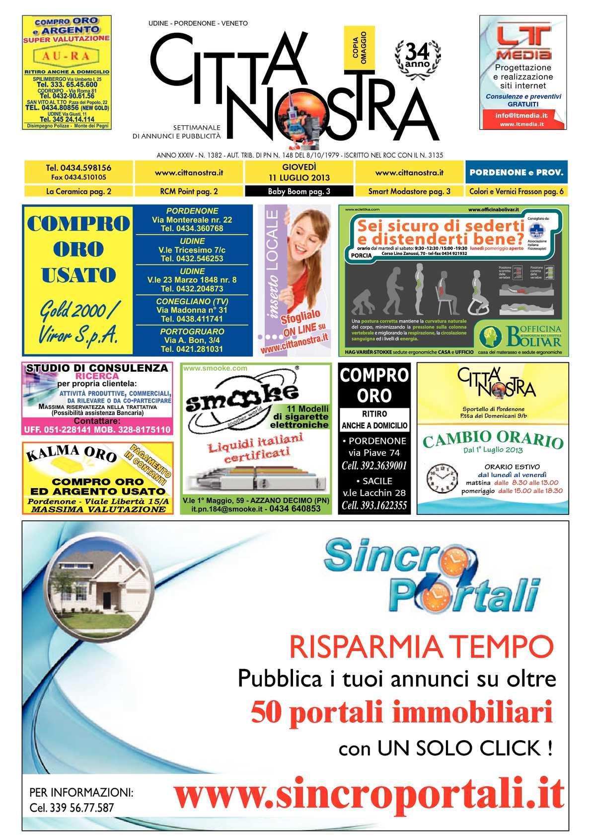 2013 11 Pordenone N Nostra 1382 Città Calaméo Del 07 S14wvqw