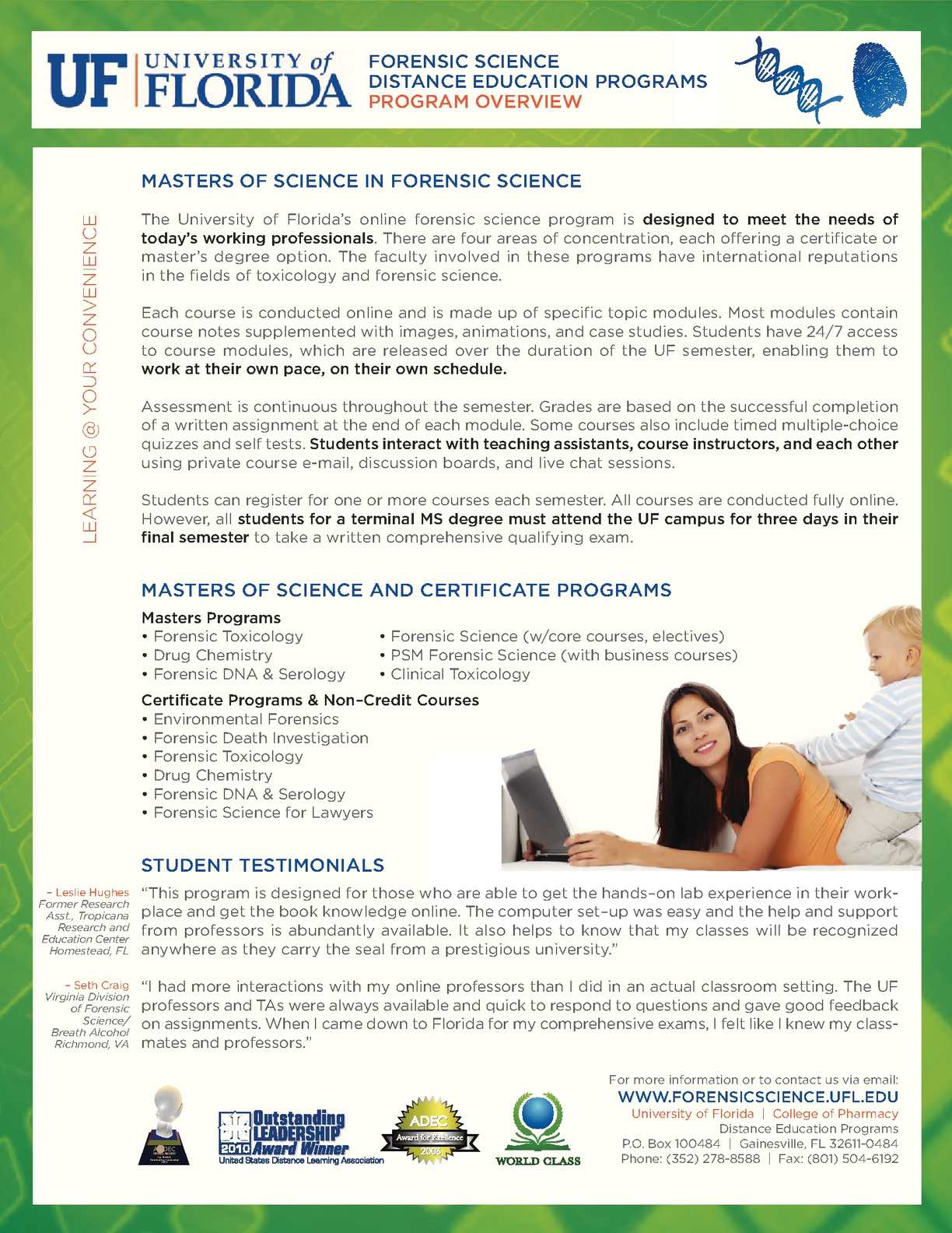 Calamo Forensic Science Masters Degree