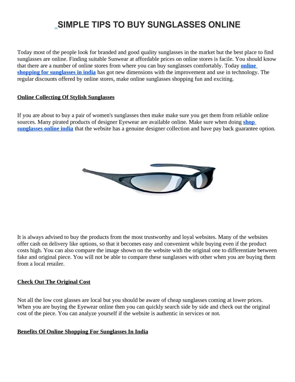 dc66086f3dd Calaméo - SIMPLE TIPS TO BUY SUNGLASSES ONLINE