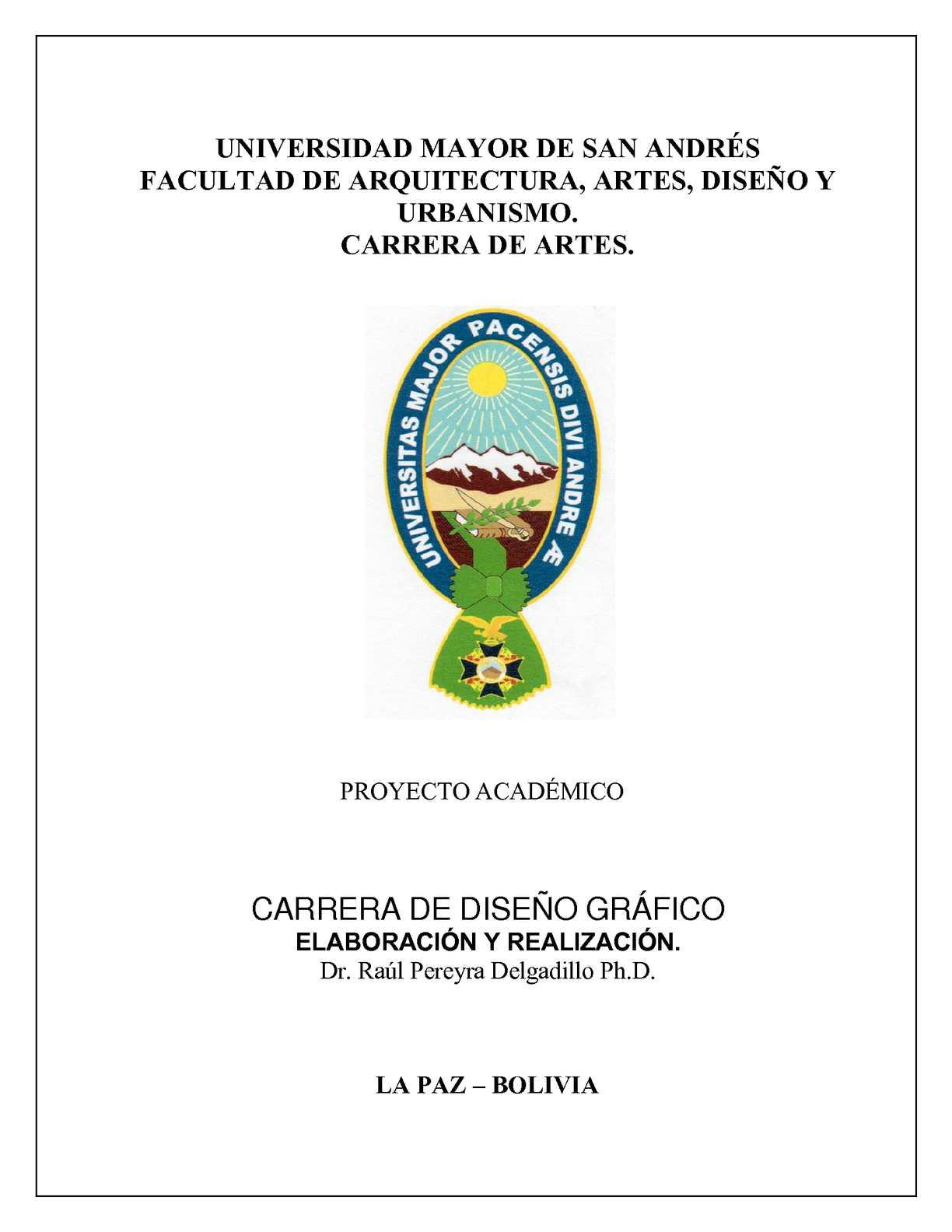 Calaméo - CARRERA DE DISEÑO GRÁFICO - ARTES - UMSA