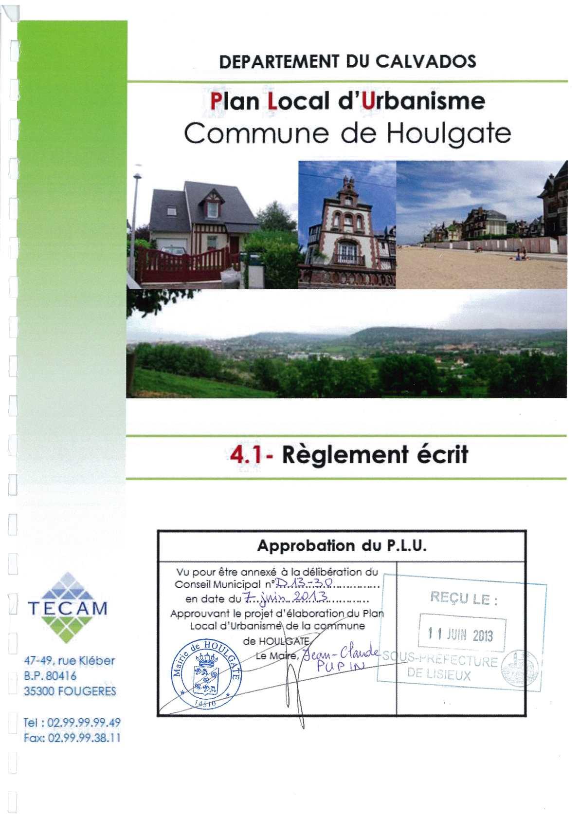 Calam o plu houlgate reglement r gles communes for Regle de l urbanisme