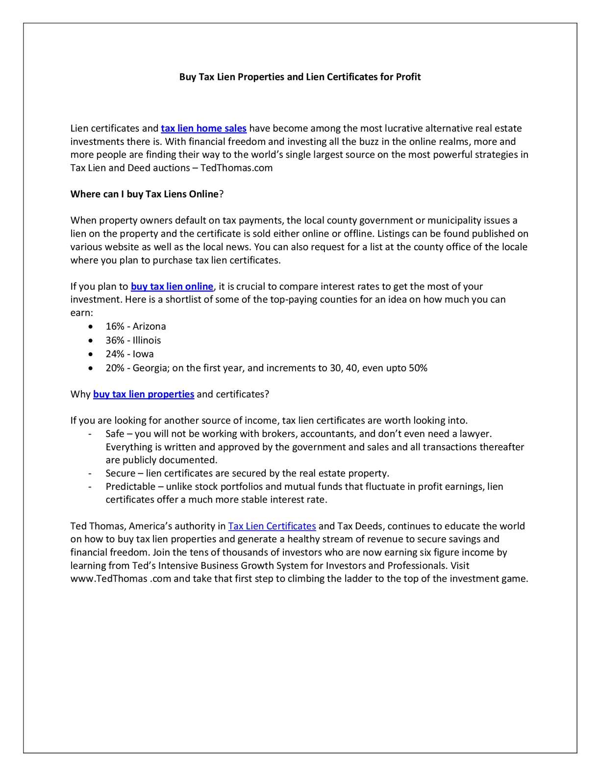 Calamo Buy Tax Lien Properties And Lien Certificates For Profit
