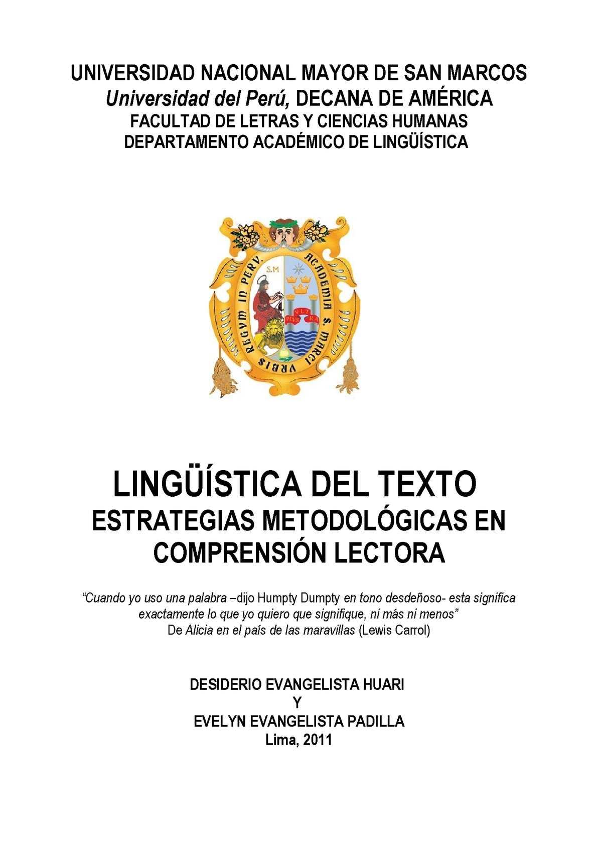 Calaméo - LINGÜÍSTICA DEL TEXTO Y COMPRENSIÓN LECTORA