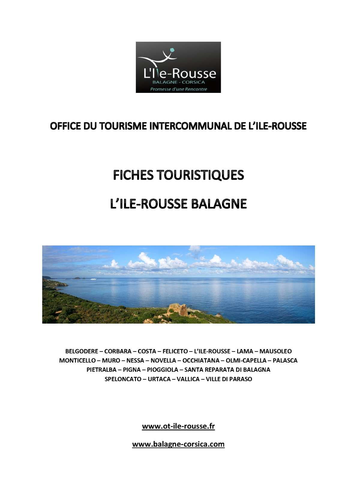 Calaméo Fiches touristiques L Ile Rousse Balagne