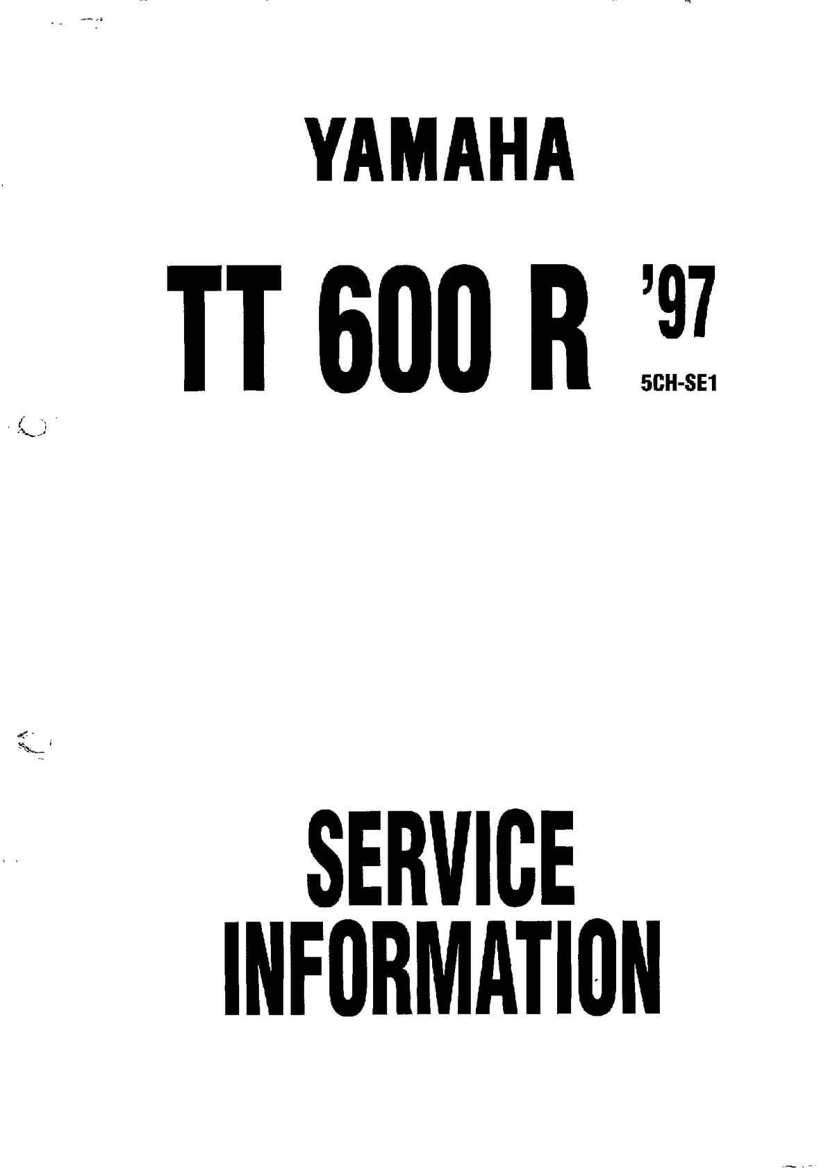 calaméo manual servicio taller yamaha tt 600 r