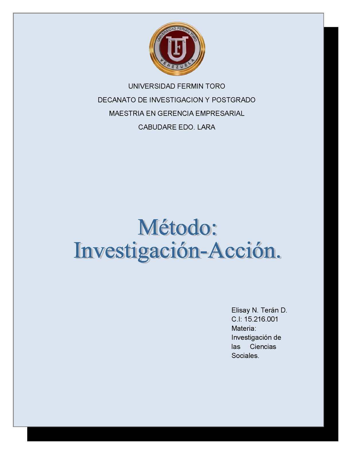 Mètodo Inestigaciòn-Acciòn
