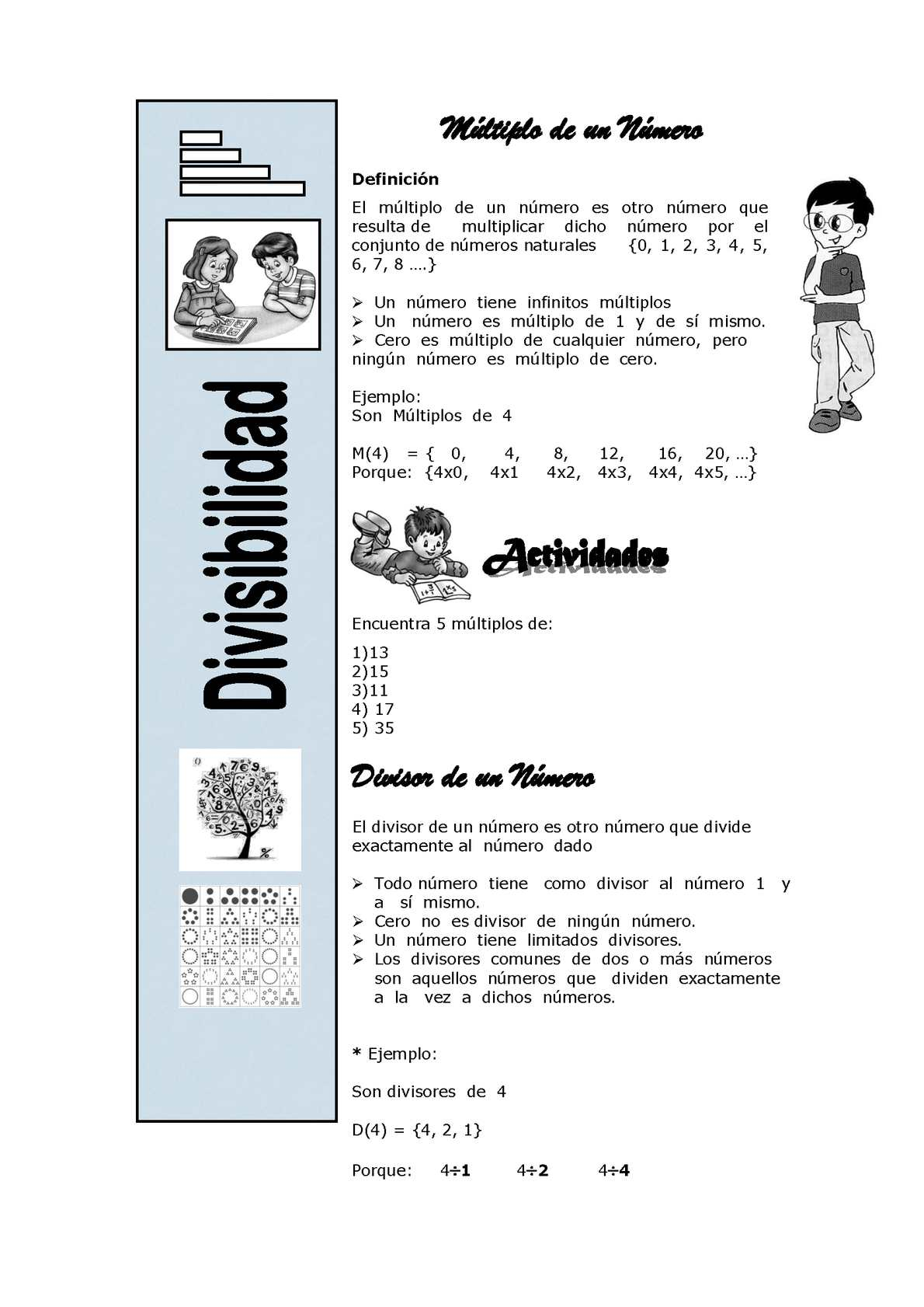 DIVISIBILIDAD - PRIMOS