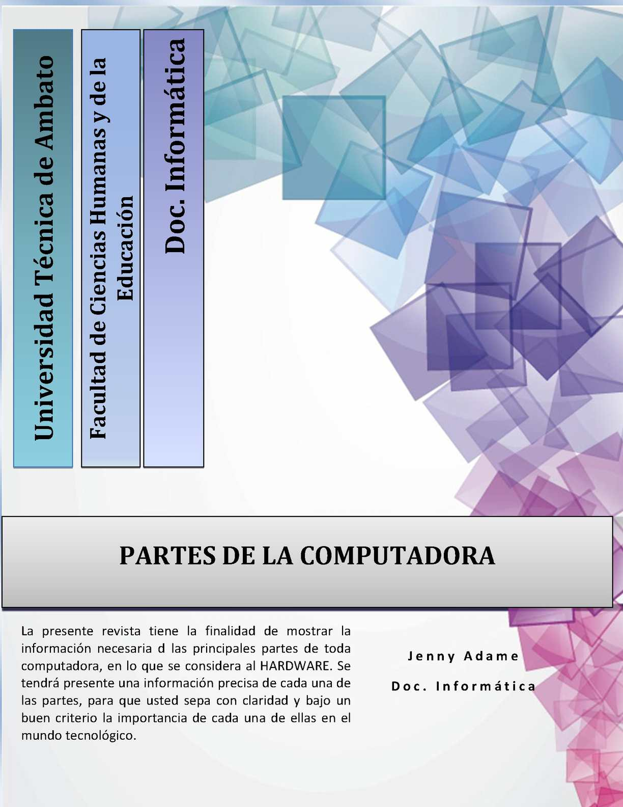 Revista Partes de la computadora