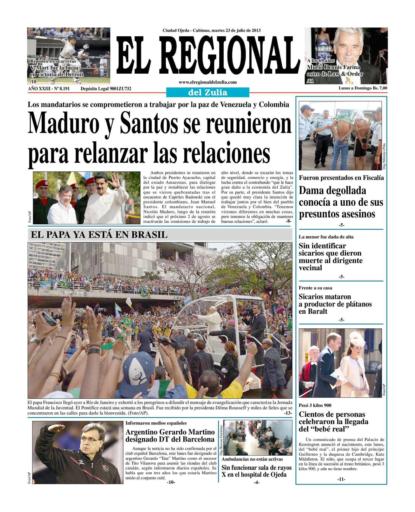 Calaméo - El Regional del Zulia 23-07-2013