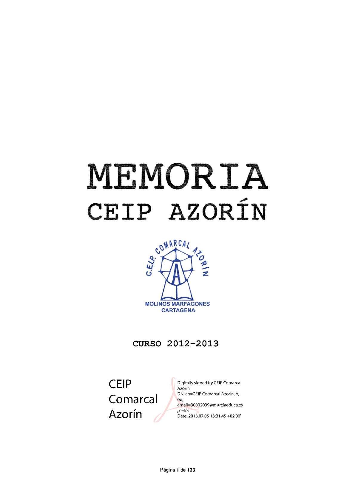 Calaméo - Memoria final de curso 2012-2013