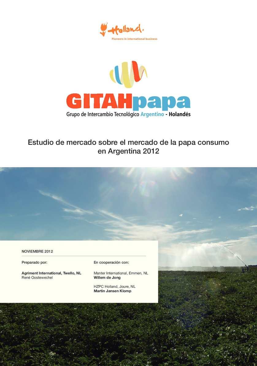 Estudio de mercado sobre el mercado de la papa consumo en Argentina 2012