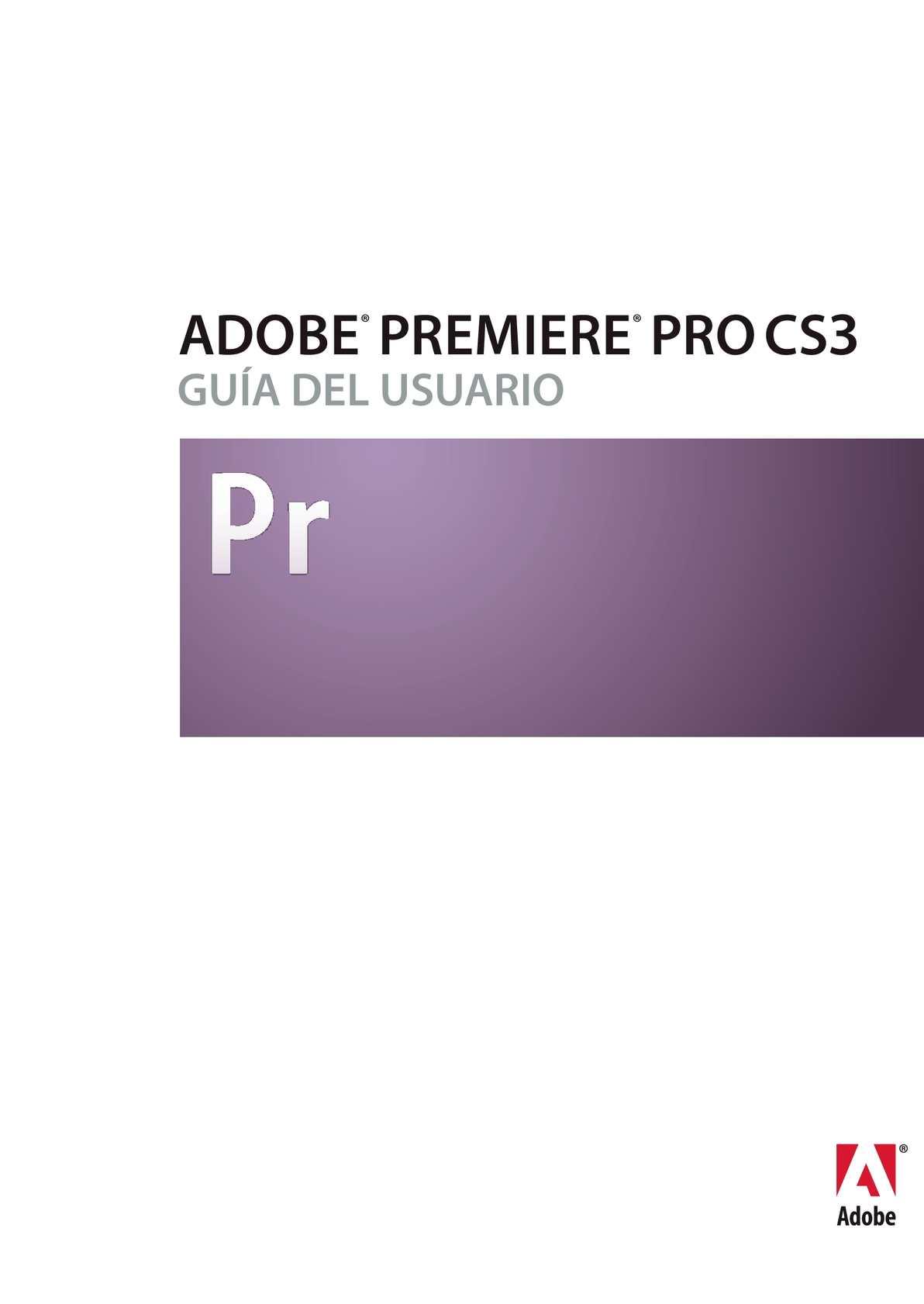 Calaméo - Manual de Adobe Premiere CS3