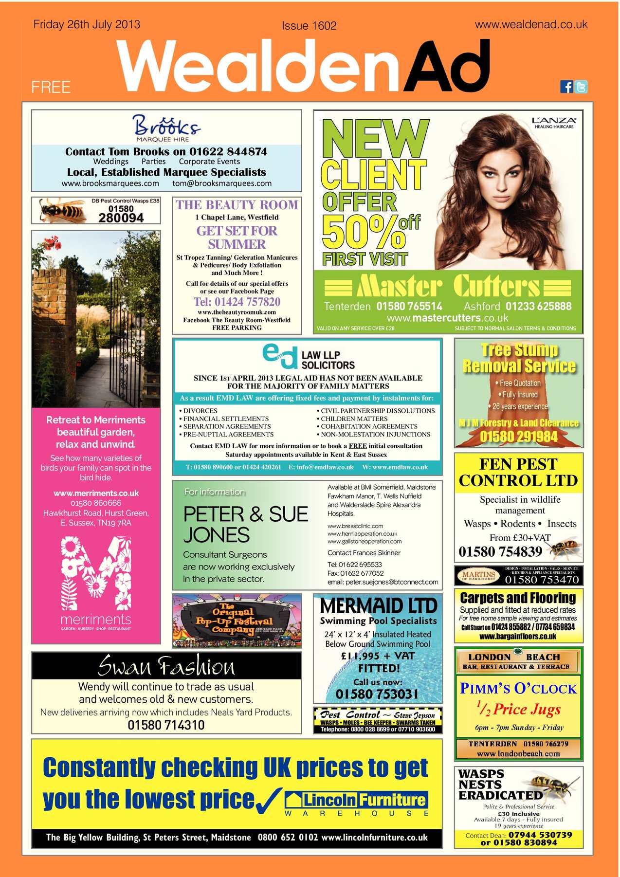 Calaméo Wealden Advertiser 26 07 2013