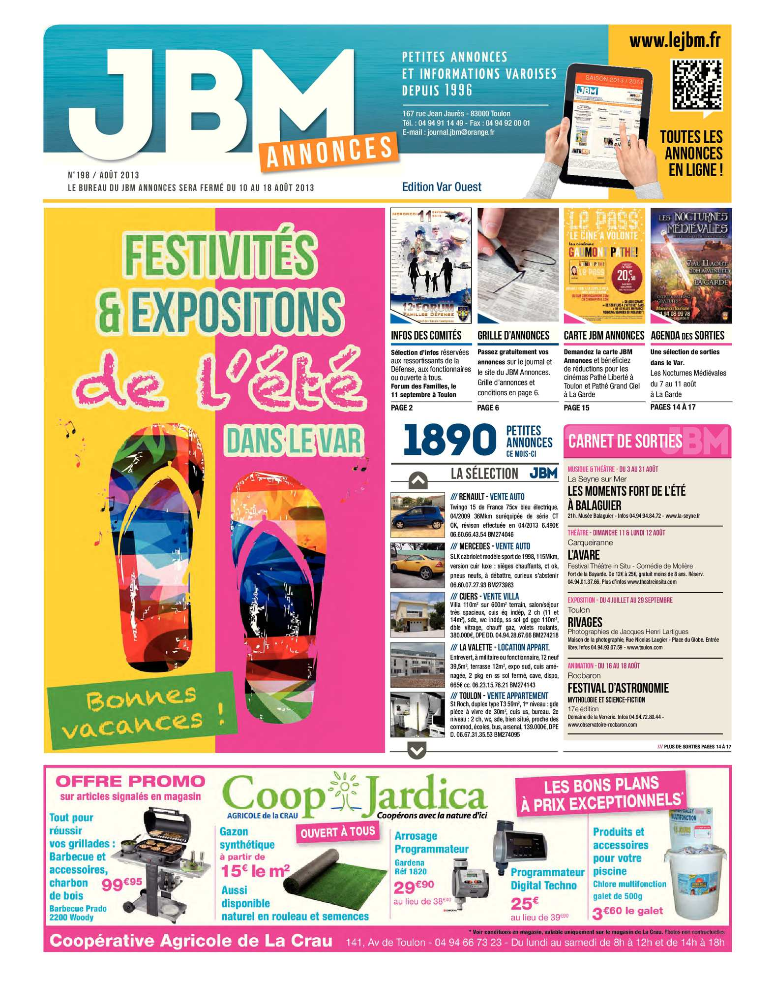 Journal Jbm Annonces N°198 2013 Août Calaméo wqvC5w