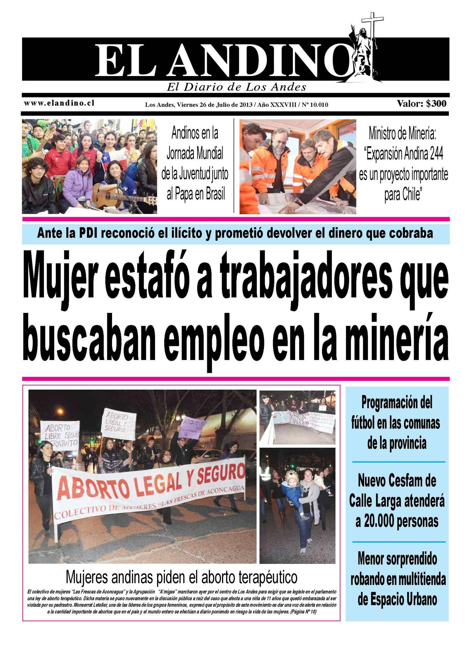 Calaméo - Diario El Andino - Viernes 26 de Julio de 2013