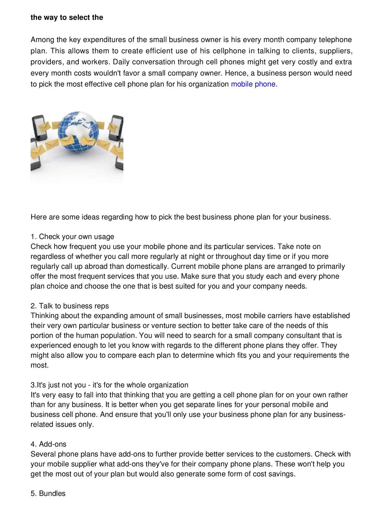 phone plans for business