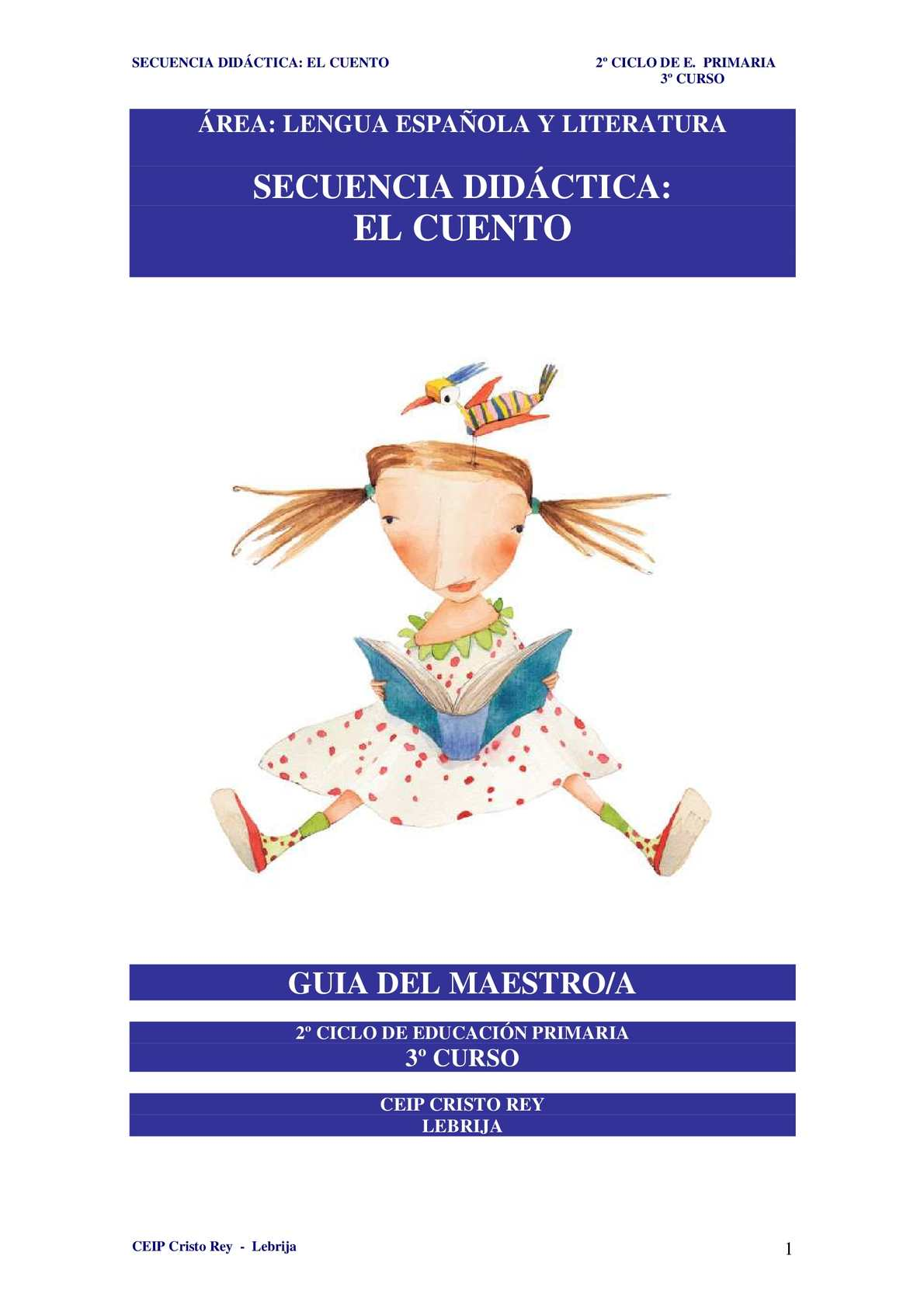 Calaméo - Secuencia Didáctica El Cuento. Guía del Maestro. 3º Curso