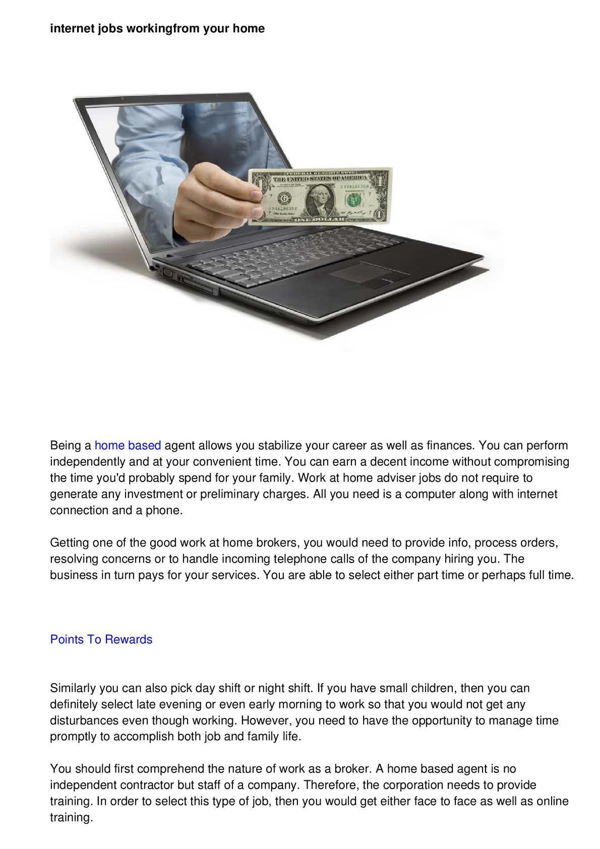 Calaméo - Real Internet home business Jobs