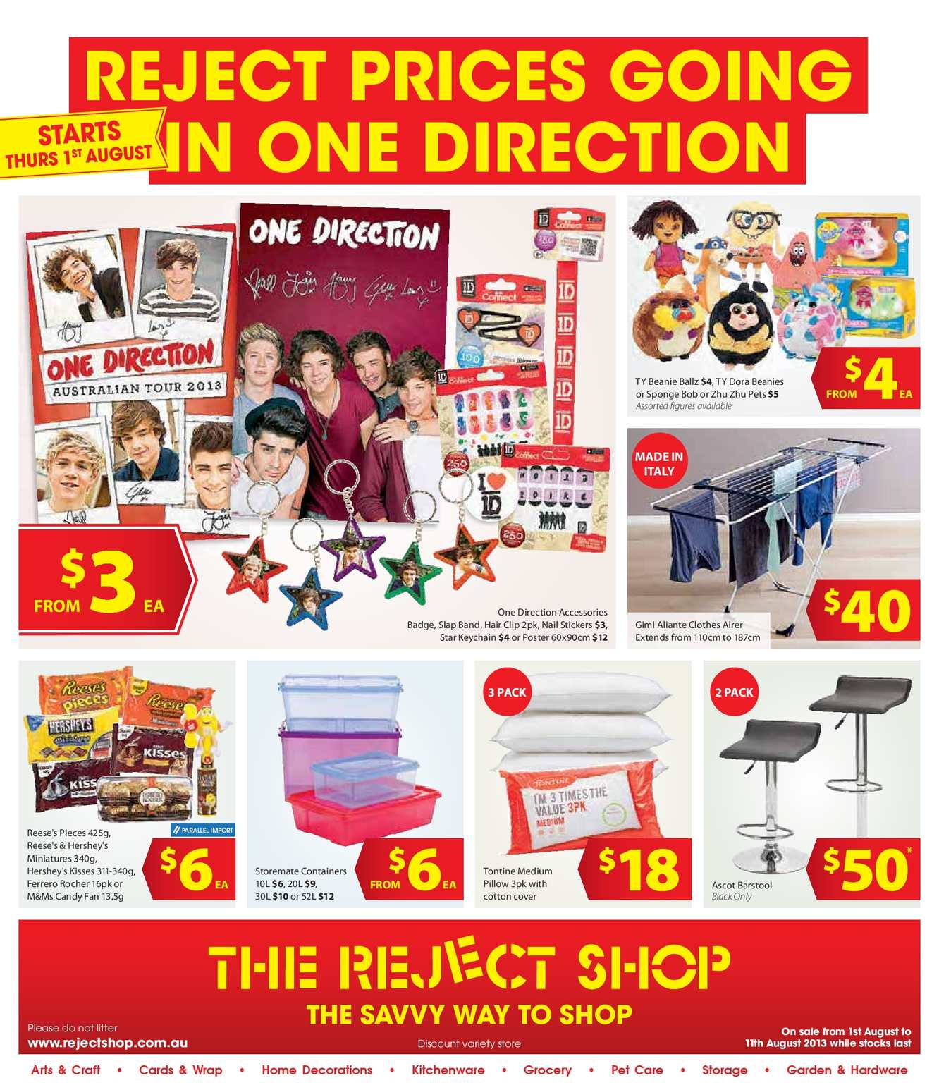Calam 233 O The Reject Shop August Catalogue